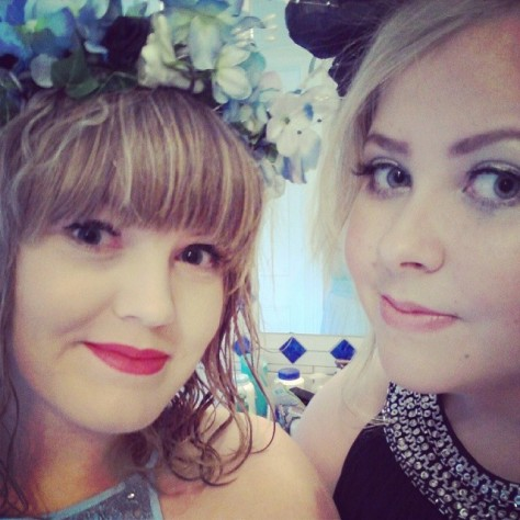 We had matching flower crowns!